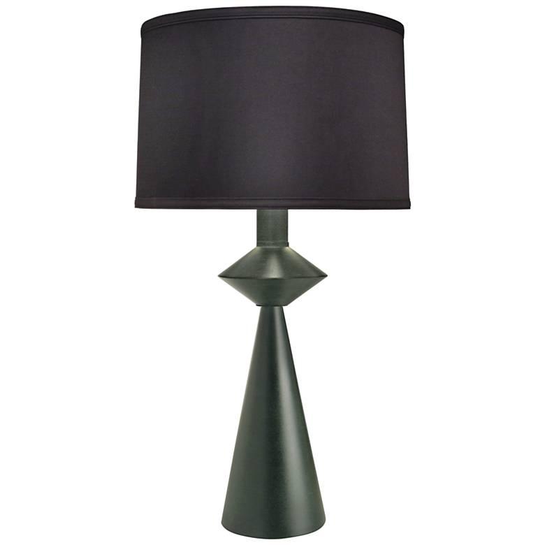 Carson Converse Black Verdigris Table Lamp w/ Black Shade