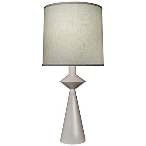 Carson Converse White Cone Table Lamp w/ Aberdeen Shade