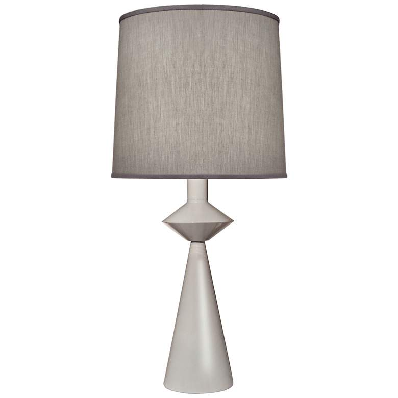 Carson Converse Gloss White Cone Table Lamp w/