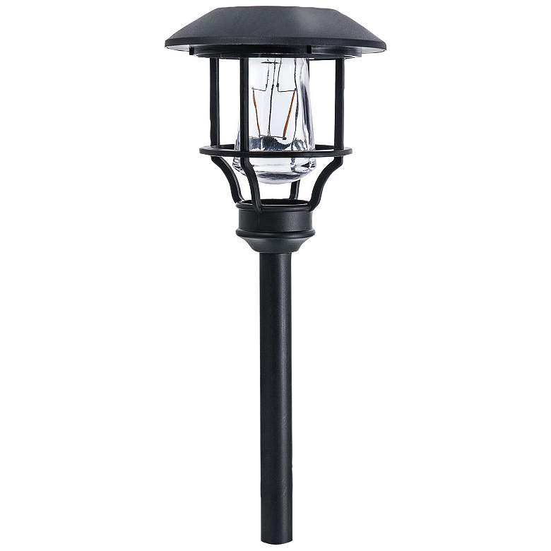 "Nina 14"" High Black Solar LED Landscape Path Light Set of 4"
