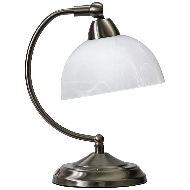Bonanza Brushed Nickel Mini Banker's Desk Lamp