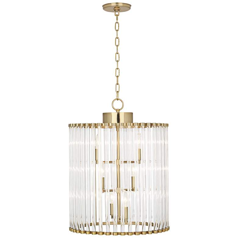 "Robert Abbey Cole 18"" Wide Modern Brass 6-Light Pendant"