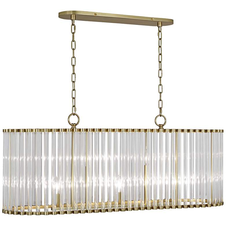 "Cole 42"" Wide Modern Brass Kitchen Island Light Pendant"