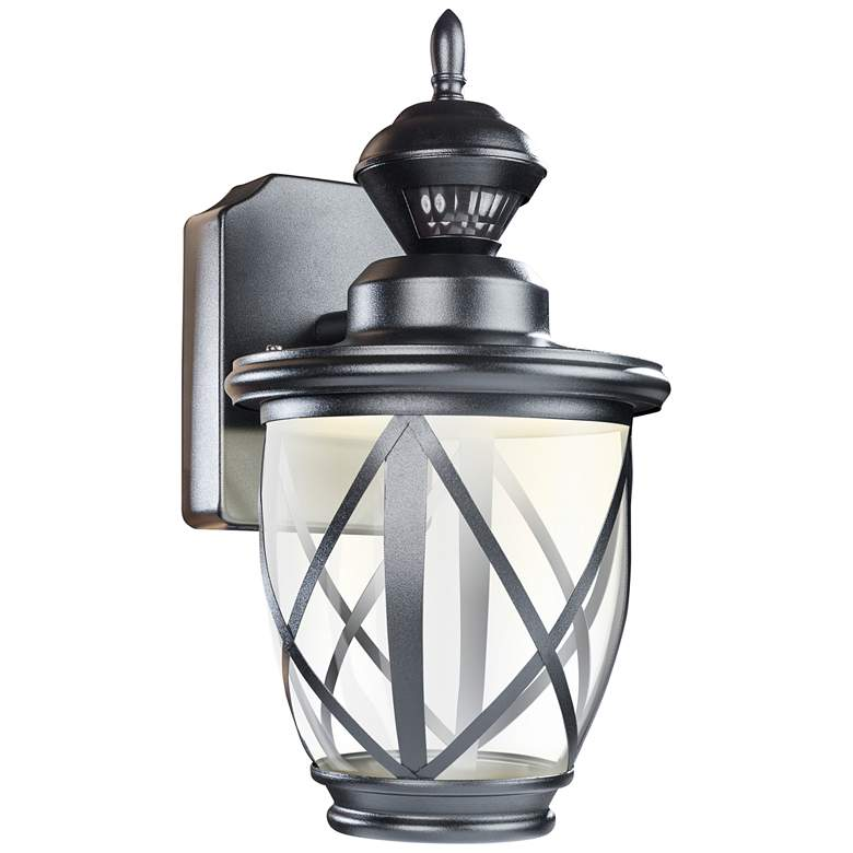 "Allure 13"" High Black LED Motion Sensor Outdoor Wall Light"