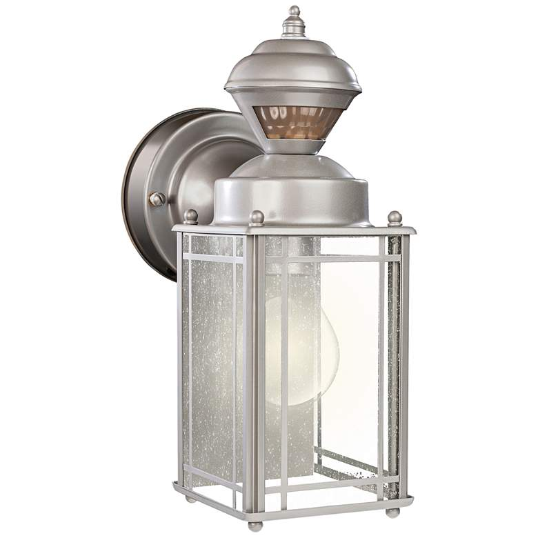 "Palazzo 11"" High Silver Motion Sensor Outdoor Wall Light"