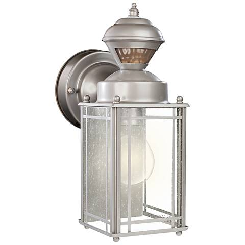 "Palazzo 11"" High Silver Motion Sensor Outdoor Wall Light"