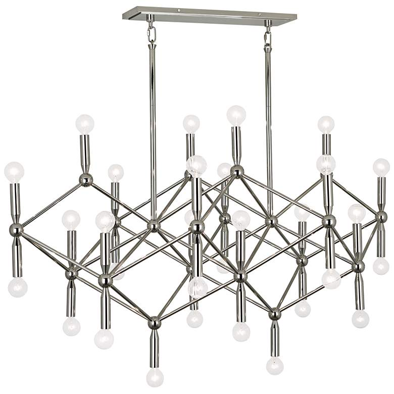 "Milano 44"" Wide Polished Nickel 30-Light Chandelier"