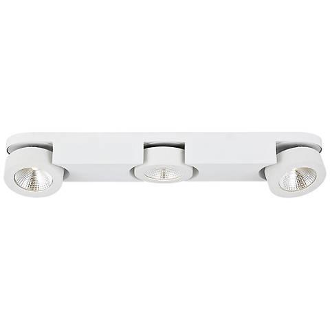 """Eurofase Acura 22 1/2"""" Wide White 3-LED Ceiling Light"""