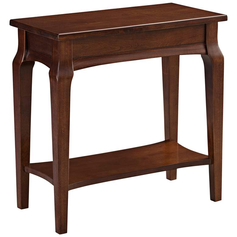 """Stratus 24"""" Wide Cherry Wood Narrow Chairside Table"""