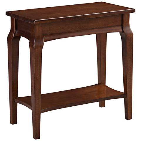 Leick Stratus Heartwood Cherry Wood Narrow Chairside Table