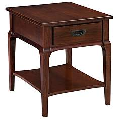 Cherry tables lamps plus leick stratus heartwood cherry 1 drawer wood end table aloadofball Image collections