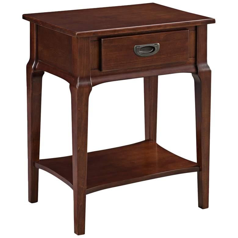 "Stratus 22"" Wide Heartwood Cherry 1-Drawer Wood Nightstand"