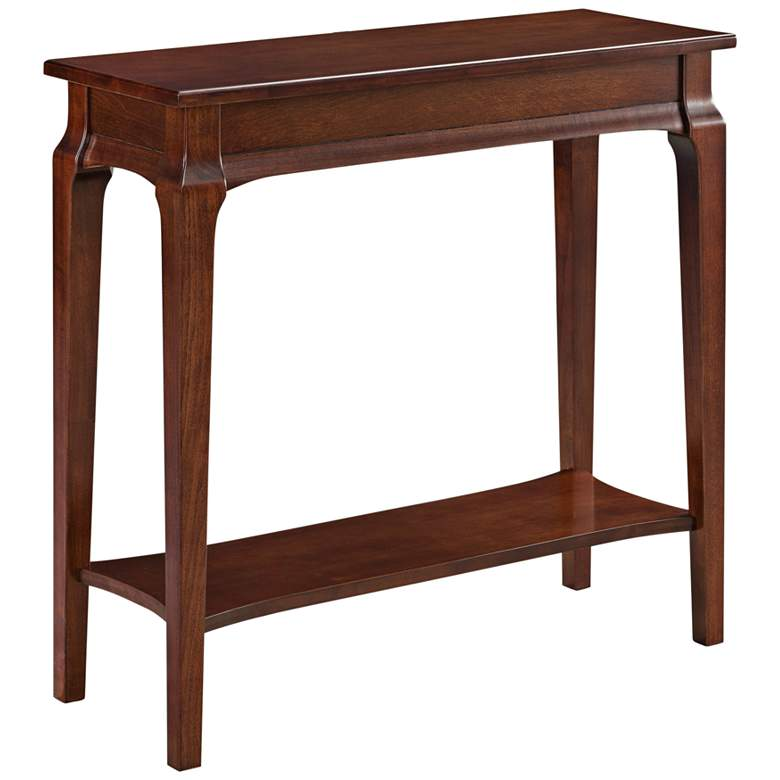 "Stratus 30"" Wide Heartwood Cherry Wood Hall Stand"