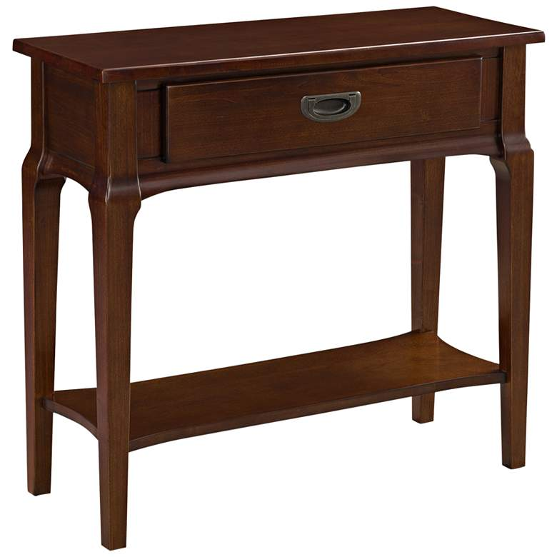 """Stratus 30"""" Wide Heartwood Cherry Wood Hall Stand Table"""