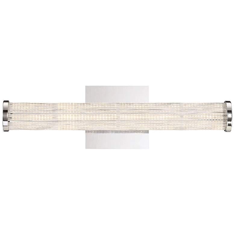 "Eurofase Braid 18"" Wide Chrome LED Bath Light"