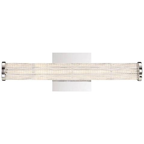 "Eurofase Braid 18"" Wide Chrome LED Bath Light"