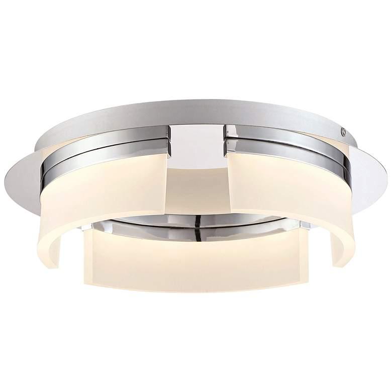 "Eurofase Bria 15"" Wide Chrome LED Ceiling Light"
