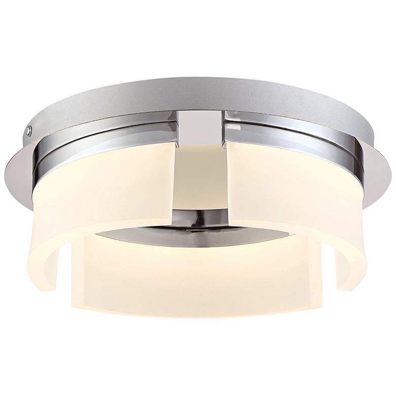 "Eurofase Bria 11"" Wide Chrome LED Ceiling Light"