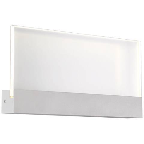 "Halpern 8"" High Marine Gray Large LED Outdoor Wall Light"