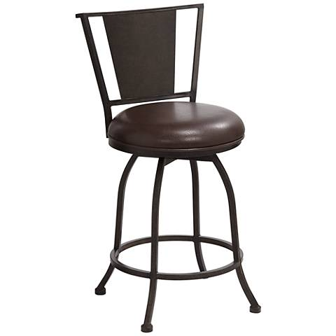 "Dynasty Tobacco Brown 26"" Swivel Counter Stool"