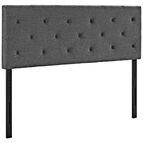 Terisa Gray Fabric Upholstered Headboard
