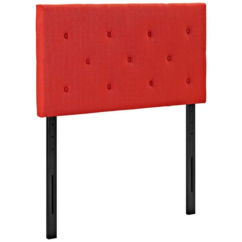 Terisa Atomic Red Fabric Upholstered Twin Headboard