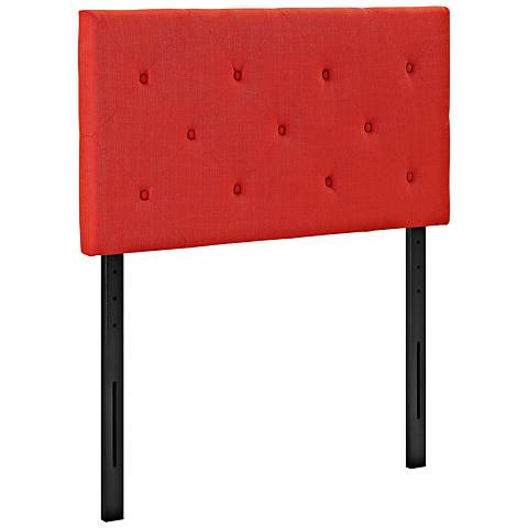 Terisa Atomic Red Fabric Upholstered Twin Headboard