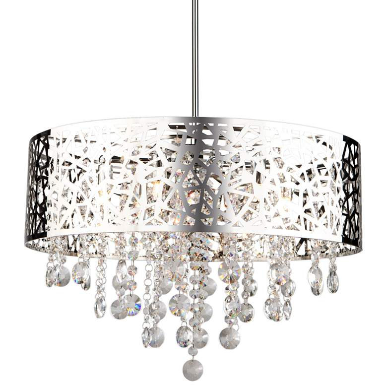 "Artcraft Celestial 20"" Wide Chrome Pendant Light"