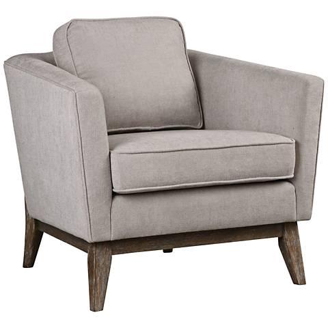 Uttermost Varner Neutral Beige Linen Fabric Accent Chair