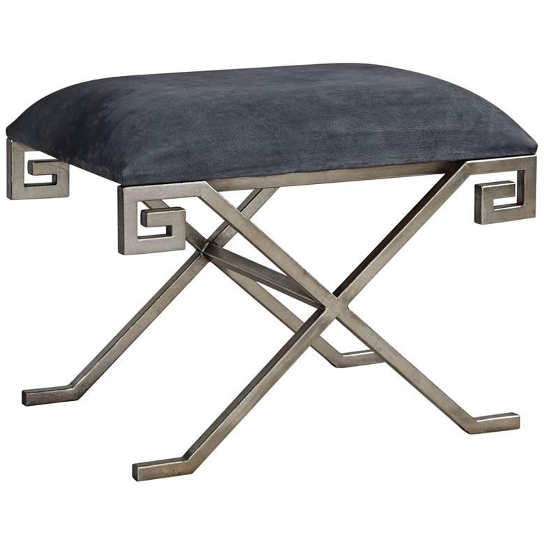 Uttermost Liddell Indigo Blue Leather Small Bench