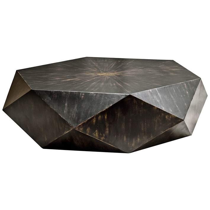 Volker 49 3 4 Wide Black Modern Geometric Coffee Table 35t64 Lamps Plus