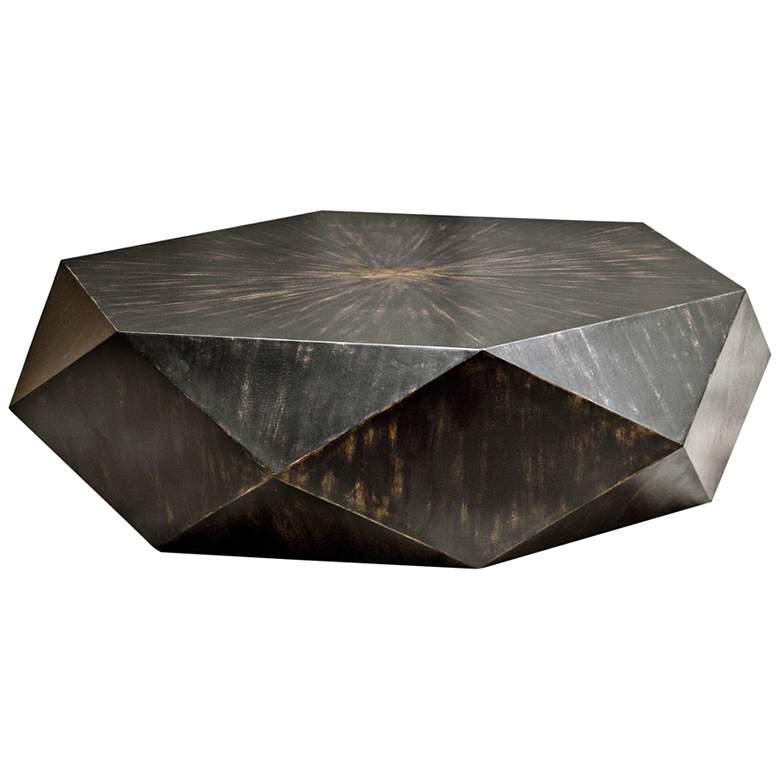 "Volker 49 3/4"" Wide Black Modern Geometric Coffee Table"