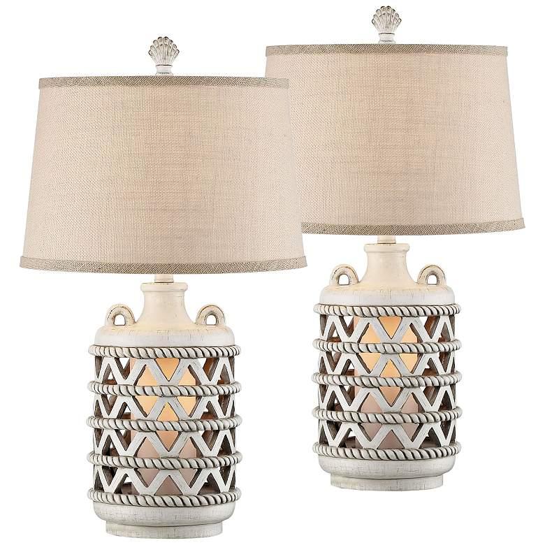 Baldwin Island Coastal Night Light Table Lamps Set of 2