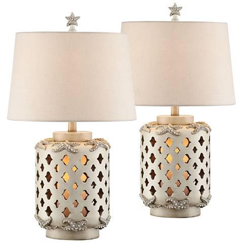 Star Island Misty Haze Night Light Table Lamps Set of 2