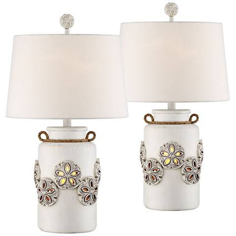 "Harriet Island 26"" High Table Lamp w/ Night Light Set of 2"