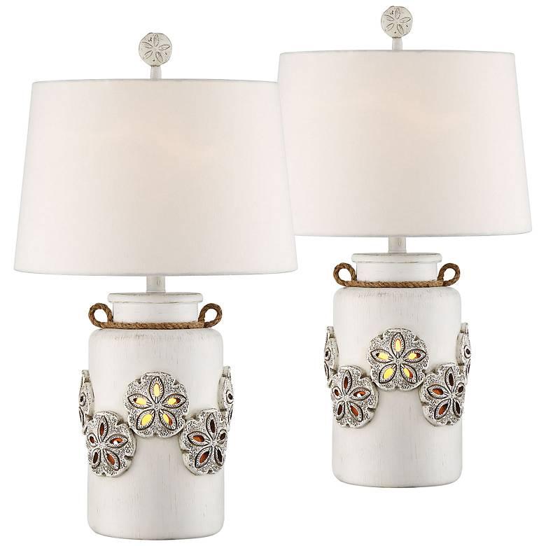 "Harriet Island 26"" High Table Lamp w/ Night Light Set of 2"