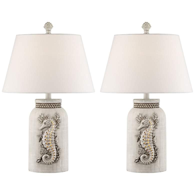 Adele Island White Night Light Table Lamps Set of 2