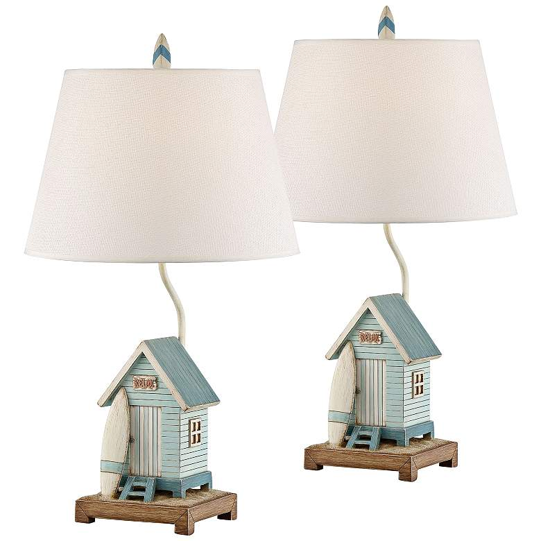 Relax At The Beach Coastal Surf Table Lamp