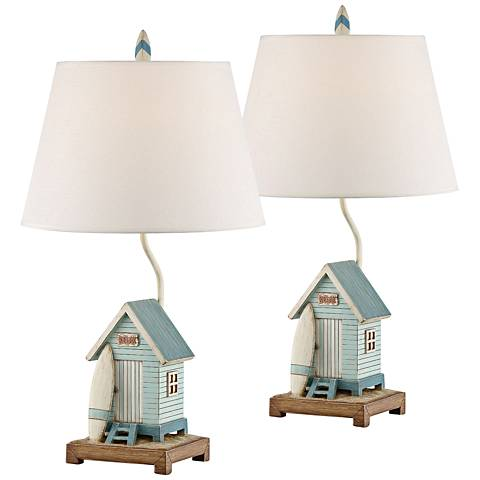 Relax at the beach house blue and white table lamp set of 2 35v51 relax at the beach house blue and white table lamp set of 2 aloadofball Images