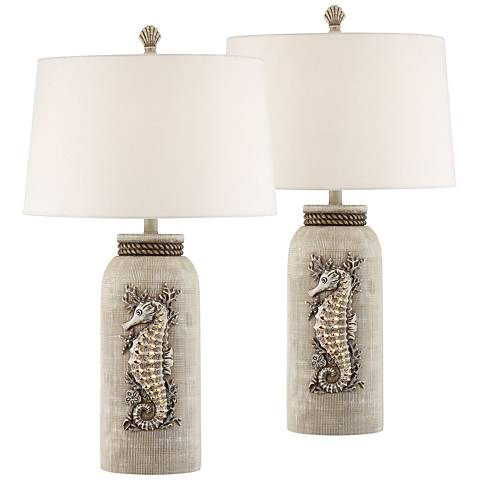 Beaufort Antique Table Lamp with Night Light Set of 2