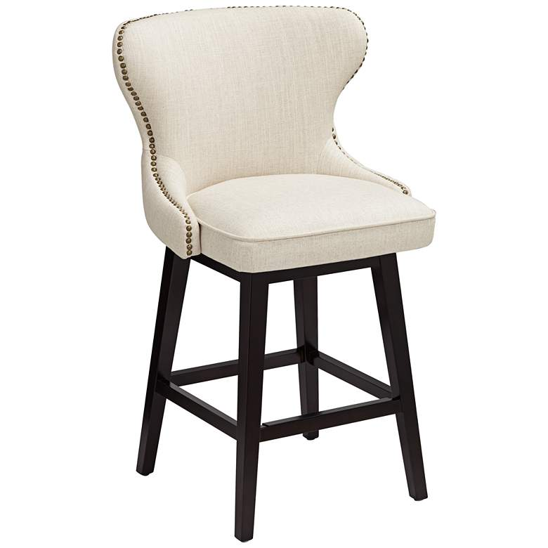 Fantastic Ariana Sand Linen 25 1 2 Swivel Counter Stool Gmtry Best Dining Table And Chair Ideas Images Gmtryco