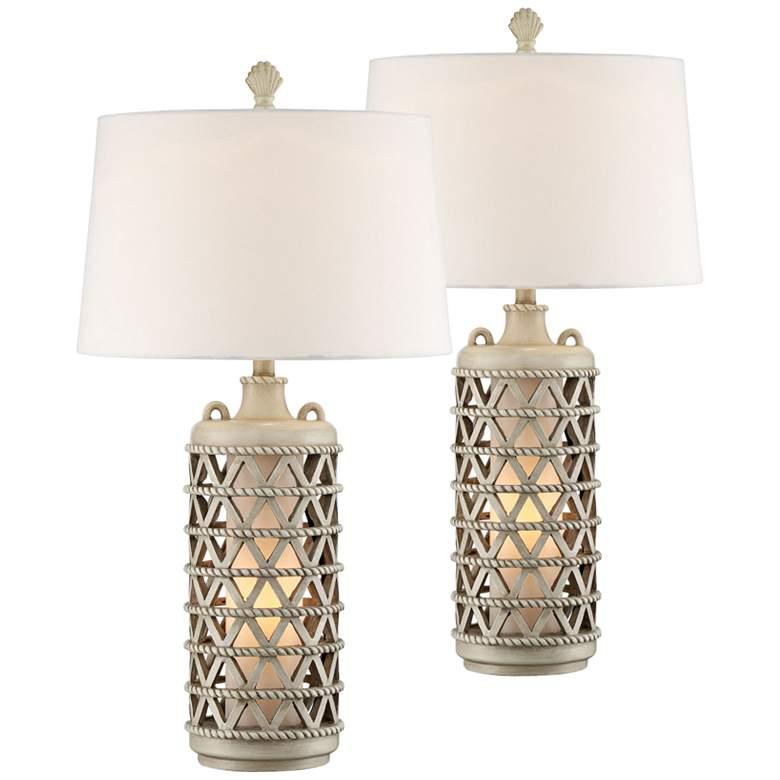 Oak Island Misty Haze Night Light Table Lamps