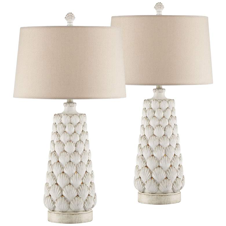Harbor Island Large Night Light Table Lamps Set