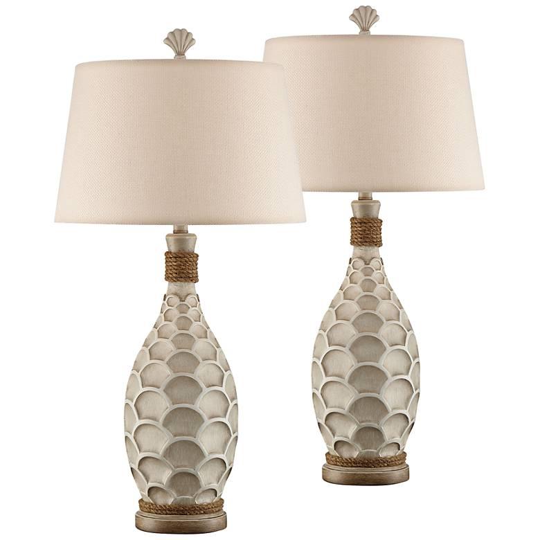 Eden Isle Misty Haze Night Light Table Lamps Set of 2