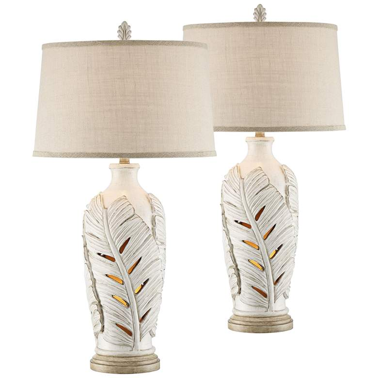 Marco Island Table Lamps with Night Lights - Set of 2