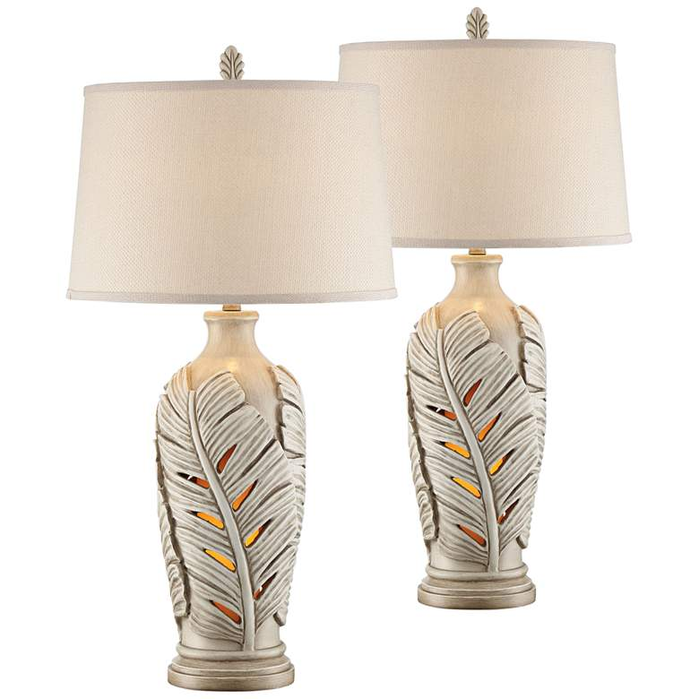 Marco Island Misty Haze Night Light Table Lamps Set of 2