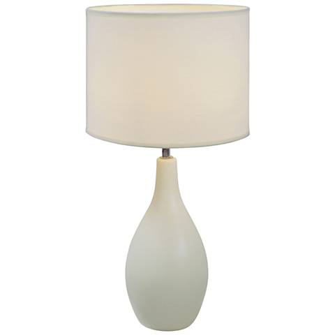 "Loma Off-White 19""H Bowling Pin Ceramic Accent Table Lamp"