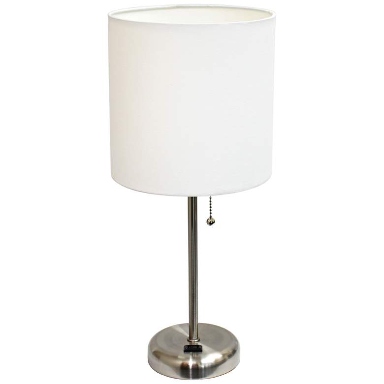 """Ben Brushed Steel 19 1/2""""H Accent Table Lamp"""