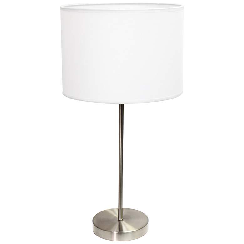 Ben Brushed Steel Accent Table Lamp