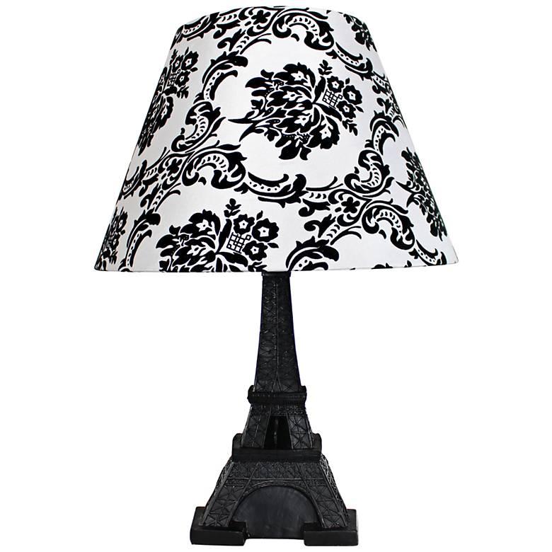 "Eiffel Tower Paris Black 16"" High Accent Table Lamp"